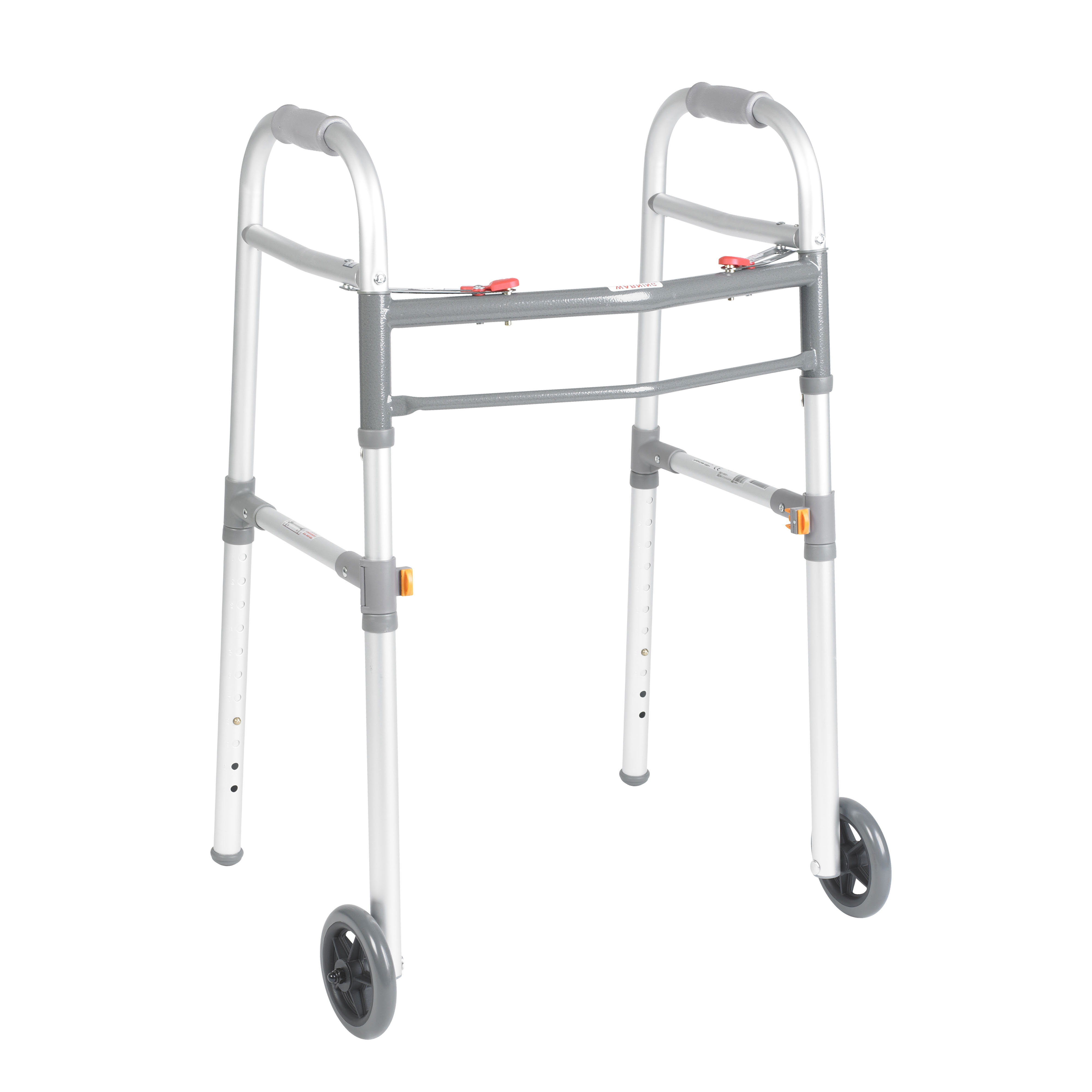 Drive Medical - Two Button Folding Universal Walker with 5