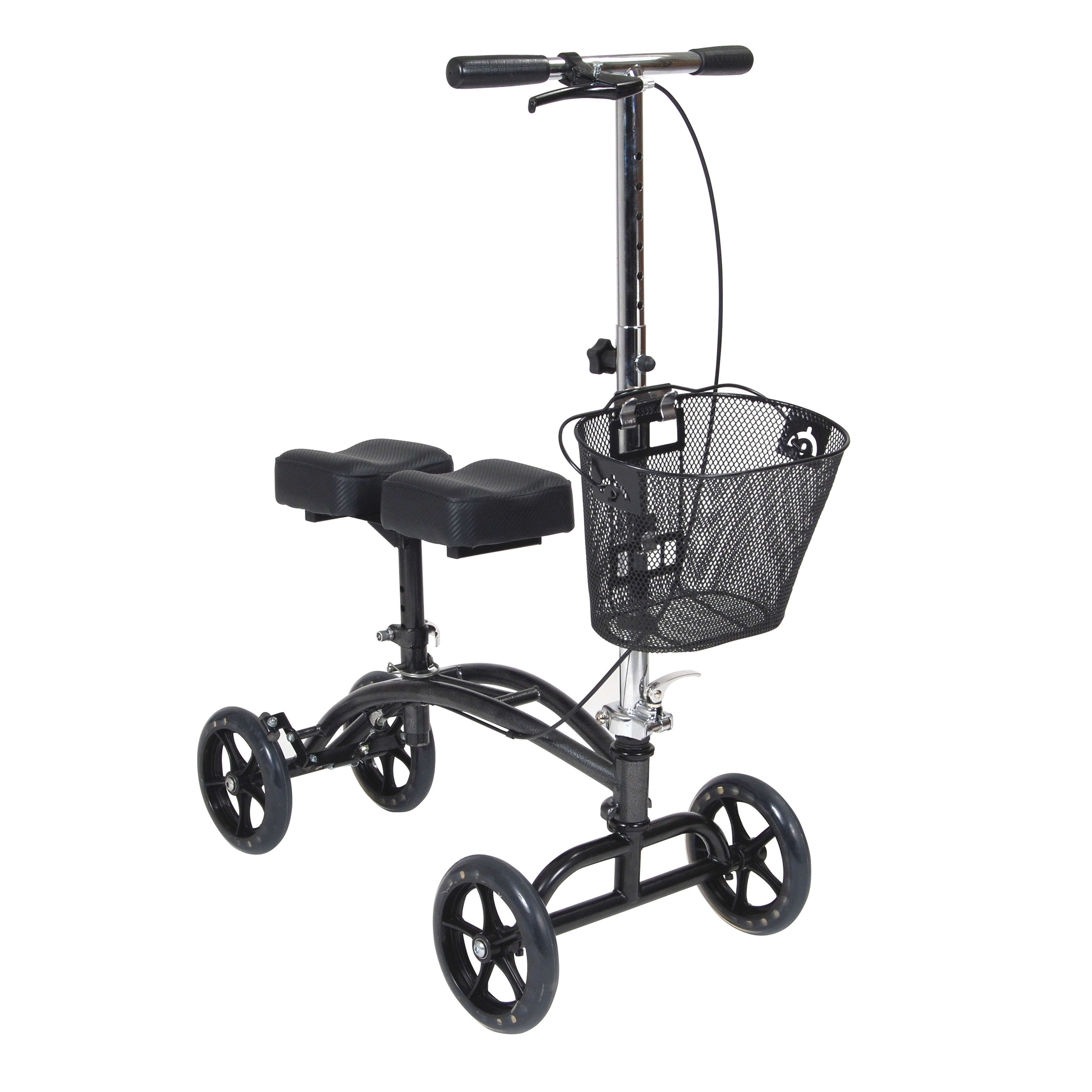 Drive Medical - Dual Pad Steerable Knee Walker with Basket, Alternative to Crutches