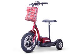Ewheels Stand Ride Scooter With Folding Tiller