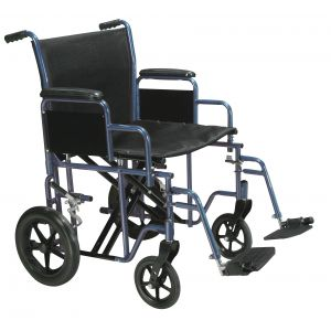 Bariatric Heavy Duty Transport Wheelchair with Swing Away Footrest