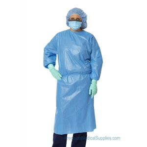Medline - Closed Back Coated Polypropylene Isolation Gowns