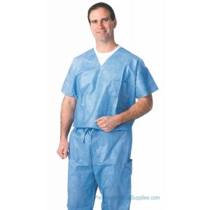 Medline - Disposable V-Neck Scrub Shirts