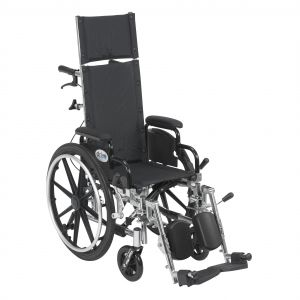 Viper Plus Light Weight Reclining Wheelchair with Elevating Leg rest and Flip Back Detachable Arms