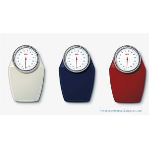 Seca - Large Floor Dial Scale showing the three different colors available white, burgundy, midnight blue
