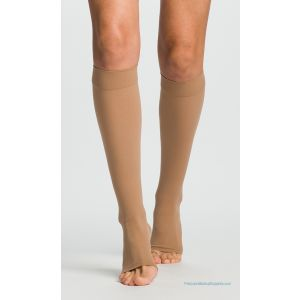Sigvaris - 860 Select Comfort Knee-High with Grip-Top Open-Toe Plus Size 30-40mmHg