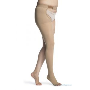 Sigvaris - 860 Select Comfort Thigh-High with Waist Attachment Open-Toe 30-40mmHg