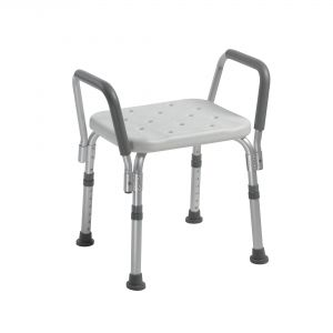 Knock Down Bath Bench with Padded Arms