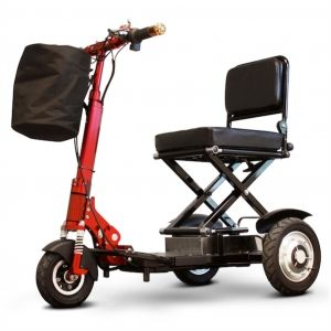 EWheels - Portable Folding scooter Red front fork black body