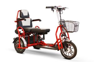 EWheels - Folding Bariatric Scooter 500lb. Weight Capacity or (2) Passenger Scooter - Red