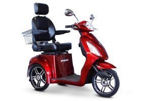 EWheels - 3 Wheel 350lbs. Wt. Capacity Scooter with Electromagnetic Brakes, High Speed of 6mph