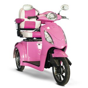 EWheels - Pretty In Pink, 3 Wheel, 350lbs. Wt. Capacity Scooter
