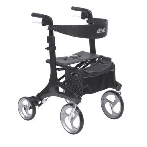 Nitro Elite CF Carbon Fiber Walker Rollator, Black