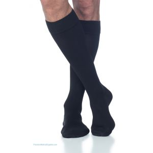 Sigvaris - 230 Men's Cotton Knee-High with Silicone Band Grip-Top 30-40 mmHg