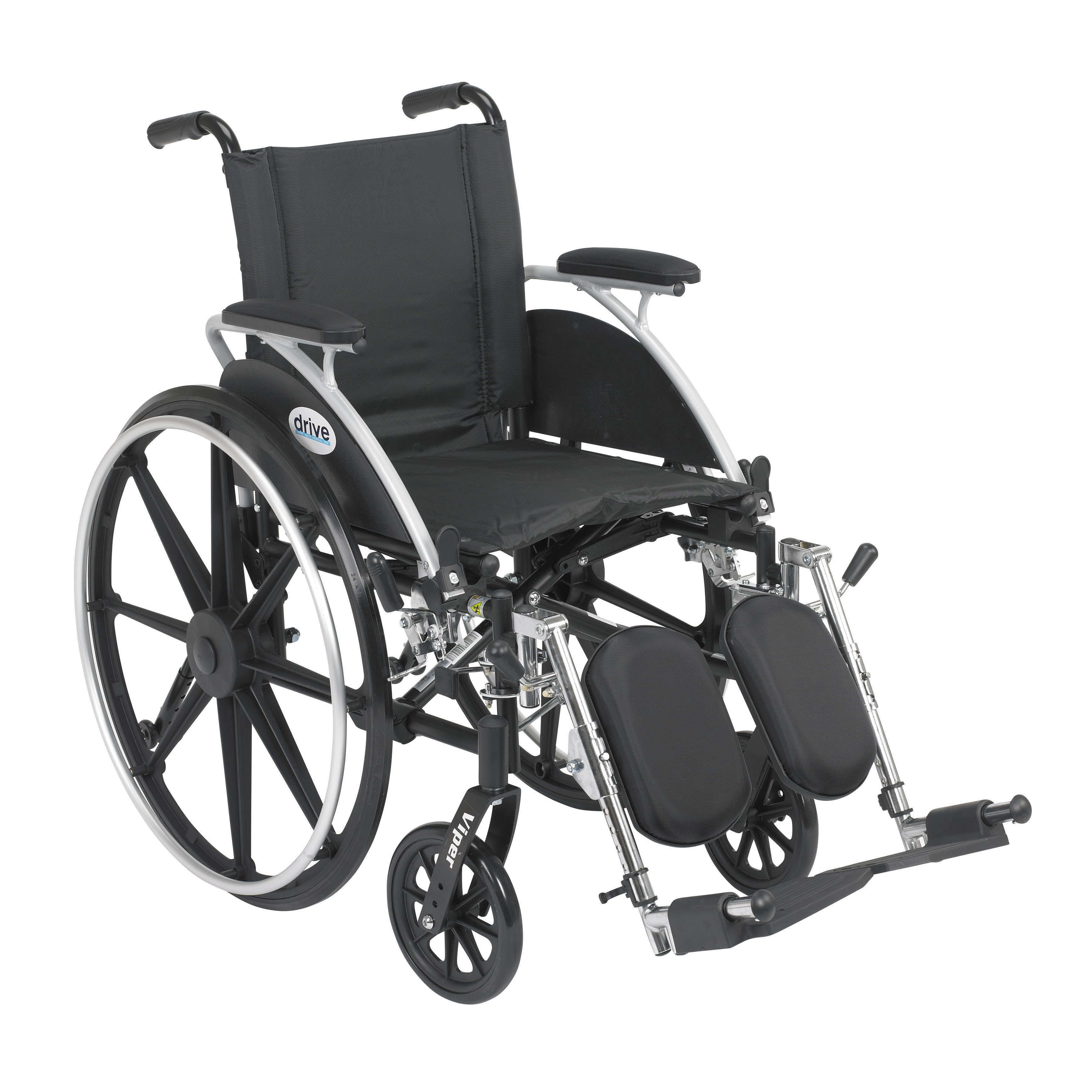 Drive Medical - Viper Wheelchair with Flip Back Removable Arms